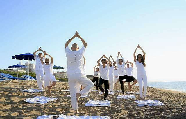 yoga near beach