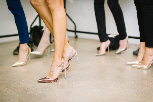 woman high heels