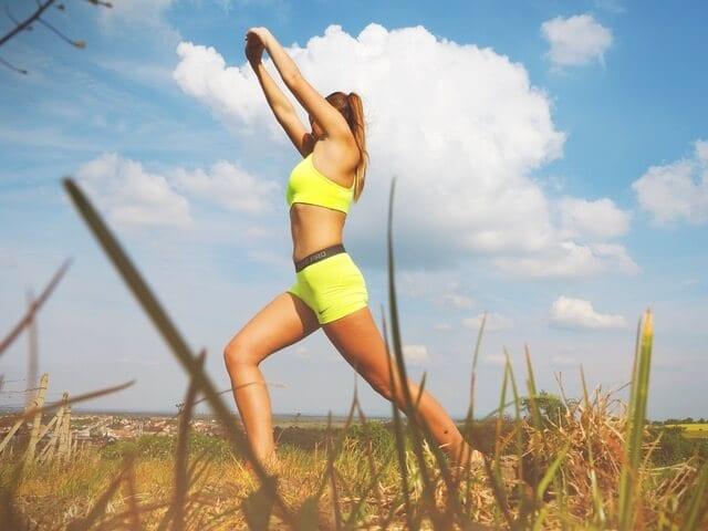 women exercise outdoor