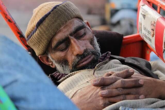Indian Men Tied Working Sleeping