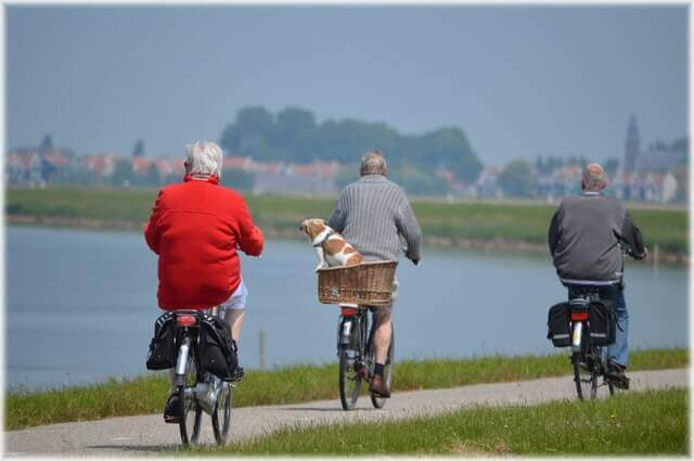 Old Men Cycling