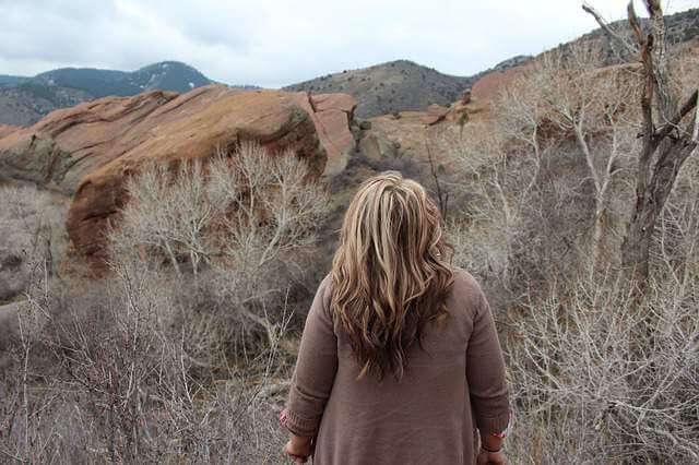 Girl Alone Desert