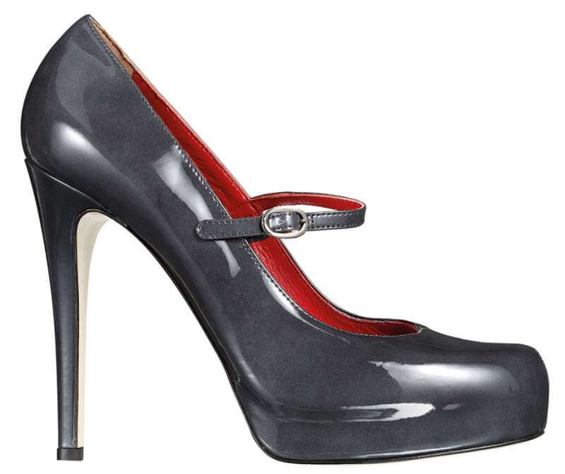 grey-stiletto-patent-leather-shoe-on-white