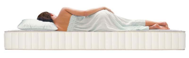 Women sleeping in bed comfort