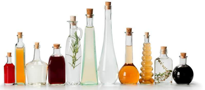 row-of-bottles-with-vinegar