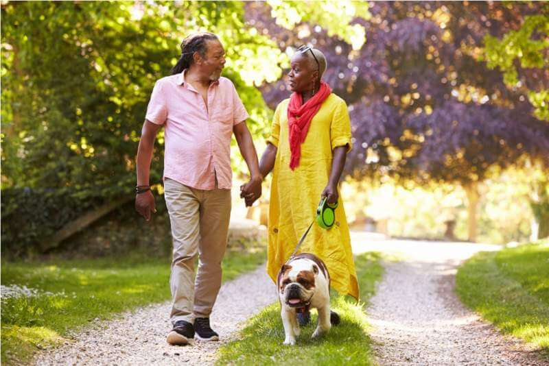 senior-couple-walking-with-pet-bulldogjpg