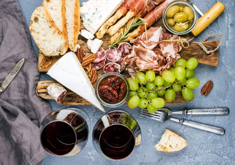 cheese-and-meat-appetizer-selection