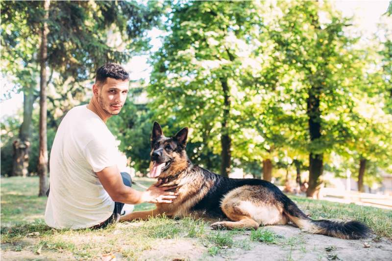 owner-and-the-dog-in-the-park