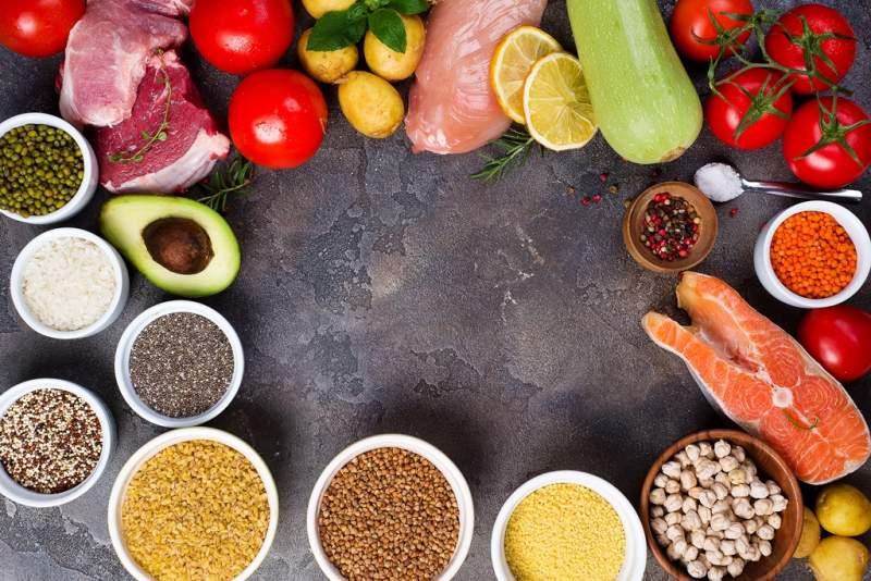 rustic-assortment-of-paleo-foods-including-eggs