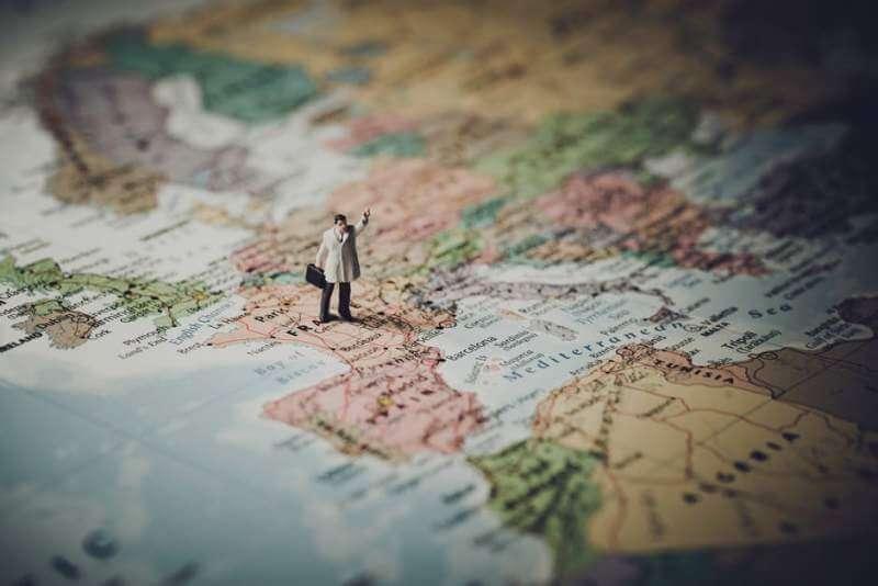 Business men map