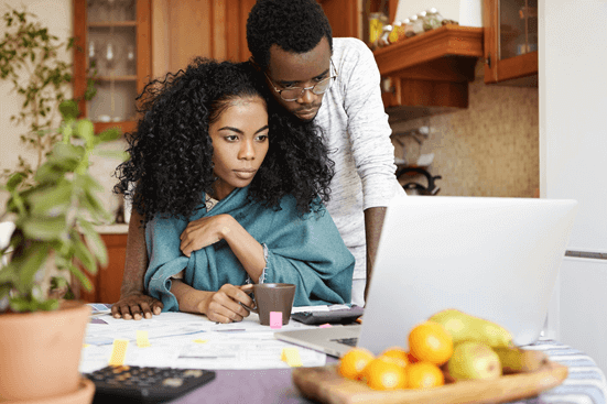 Couples planning budget