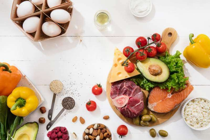 ketogenic-low-carbs-diet-food-selection