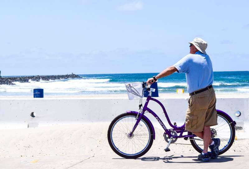 cycling-on-beach-with-leisure-and-relaxation